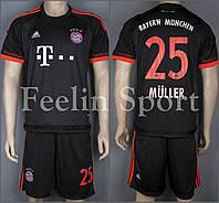 Футбольная форма Бавария Мюллер 2015-2016 выездная (черная)