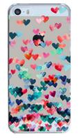 Пластиковый чехол для Iphone 5/5S сердечки