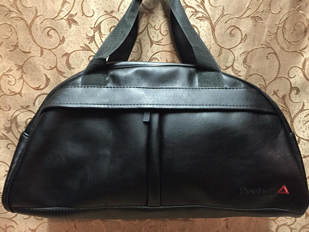 0b4ccf34 Спортивная сумка Reebok из чёрного кожзама, Рибок: продажа, цена в ...