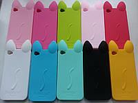 Силиконовый чехол кот iphone 4/4S с ушками и лапками 10 цветов, фото 1