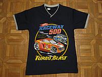 Детские летние футболки для мальчиков 128, 140,152,176см Тачки Турция хлопок