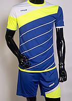 Футбольная форма игровая Europaw 008 (Blue\lime\white)