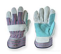 Перчатки замшевые комбинированные Mastertool (цельная ладонь)