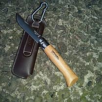Нож Opinel Inox Natural + etui №8 (с чехлом)  Бук (001089), фото 2