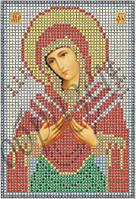 Схема для вышивания бисером икона Пресвятая Богородица Семистрельная КМИ 5048