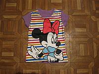 Детские летние футболки 3Д  для девочек Микки и  Минни 2-3 лет Турция