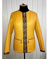 Женский стеганый пиджак (в цветах)