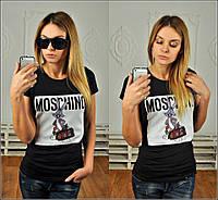 """Красивая футболка """"Москино-кролик"""""""