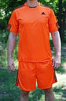 Футбольная форма игровая Adidas Orange (Адидас оранжевая) L (165-170 см)