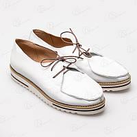Мокасины женские кожаные 5011-52white