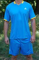 Футбольная форма игровая Adidas Blue (Адидас голубая) L (165-170 см)