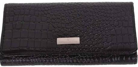 Современный женский кошелек Vip Collection 1511A croc черный