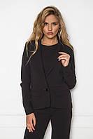 Женский строгий пиджак в деловом стиле черный