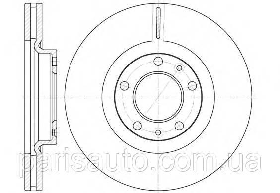Диск гальмівний KLAXCAR FRANCE 25095Z Peugeot 407 AV valeo (186746) 4246P7