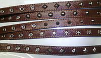 Фауна Ошейник украшения коричневый 40мм