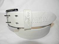 Мужской кожаный широкий ремень Armani