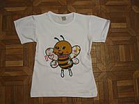 Детская летняя футболка для девочки Пчелка Турция ; 3-8 лет , фото 1