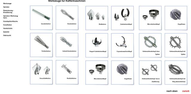 Спирали, насадки, принадлежности к прочистным машинам,запчасти