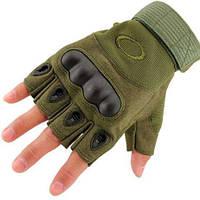 Тактические безпалые перчатки Oakley Tactical Gloves PRO, олива