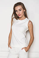 Женская строгая блуза в деловом стиле белого цвета