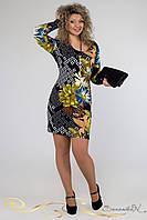 Женское яркое платье больших размеров