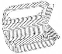 Пластиковый контейнер ТМ PRO, 210*130мм, 1740 мл, 25шт/уп, цена за единицу