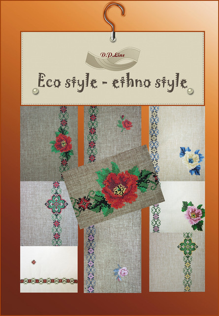 Eco stil -Ethno stil коллекция тканей в украинском стиле