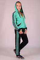 Спортивный костюм детский для девочки Комби-лампас (мята)