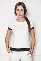 Женская блуза белого цвета в деловом стиле