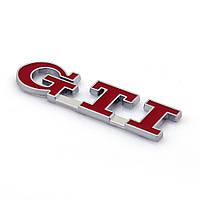 Эмблема кузова VW GTI красная