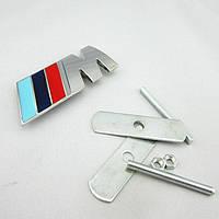 Эмблема решетки радиатора BMW M-power хром