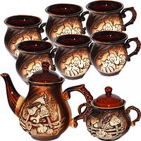 Набор чайный 8 предметов (Чайник900мл, сахарница500мл,6чашек320мл) Арго