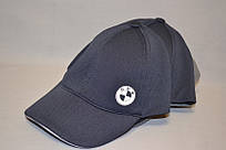"""Мужская бейсболка с автологотипом """"BMV"""" шестиклинка темно-синего цвета."""