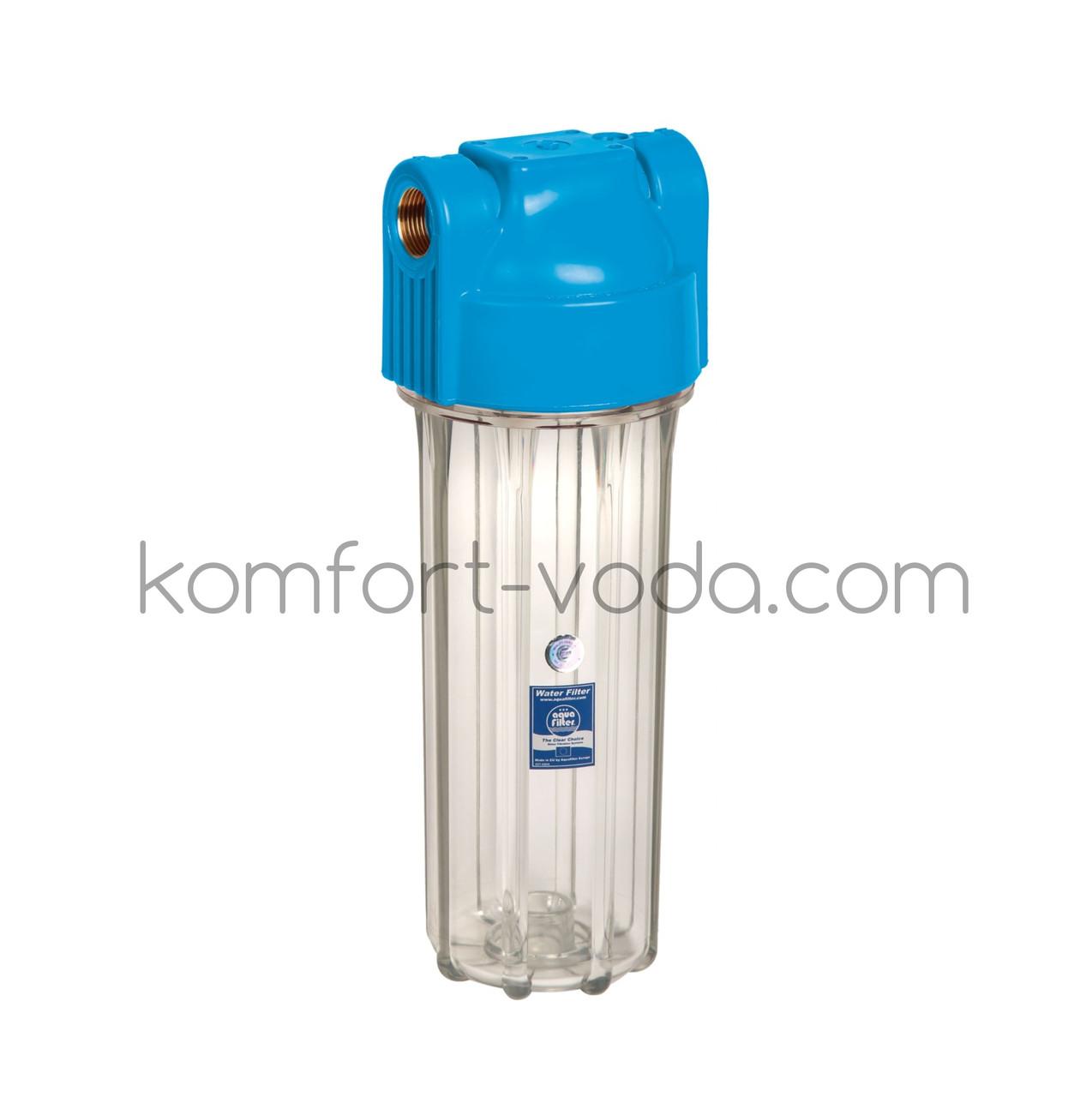 """Корпус фильтра 10"""" для холодной воды Aquafilter FHPR12-HP-S, 1/2"""""""