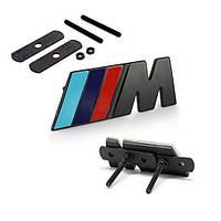 Эмблема решетки радиатора BMW M-power черная
