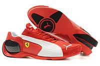 "Мужские Кроссовки Puma Ferrari Trionfo ""Red White"" - ""Красные Белые"" (Копия ААА+)"