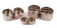 Масленка двойная метал (d:5 см, 10,1*3 см) D.K.ART
