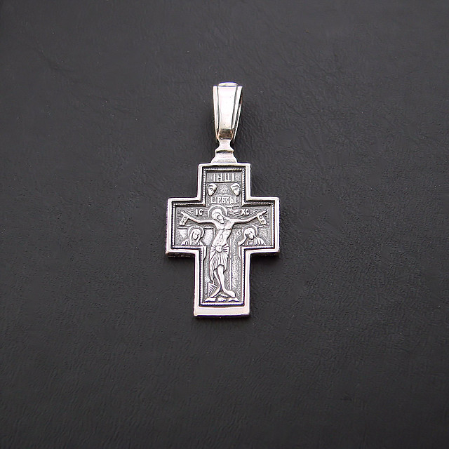 Срібний хрест з срібла 925 проби №25ч