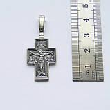 Срібний хрест з срібла 925 проби №25ч, фото 3