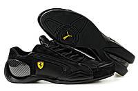 """Мужские Кроссовки Puma Ferrari Trionfo """"Black"""" - """"Черные"""" (Копия ААА+)"""