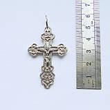 Срібний хрест з срібла 925 проби №28с, фото 3