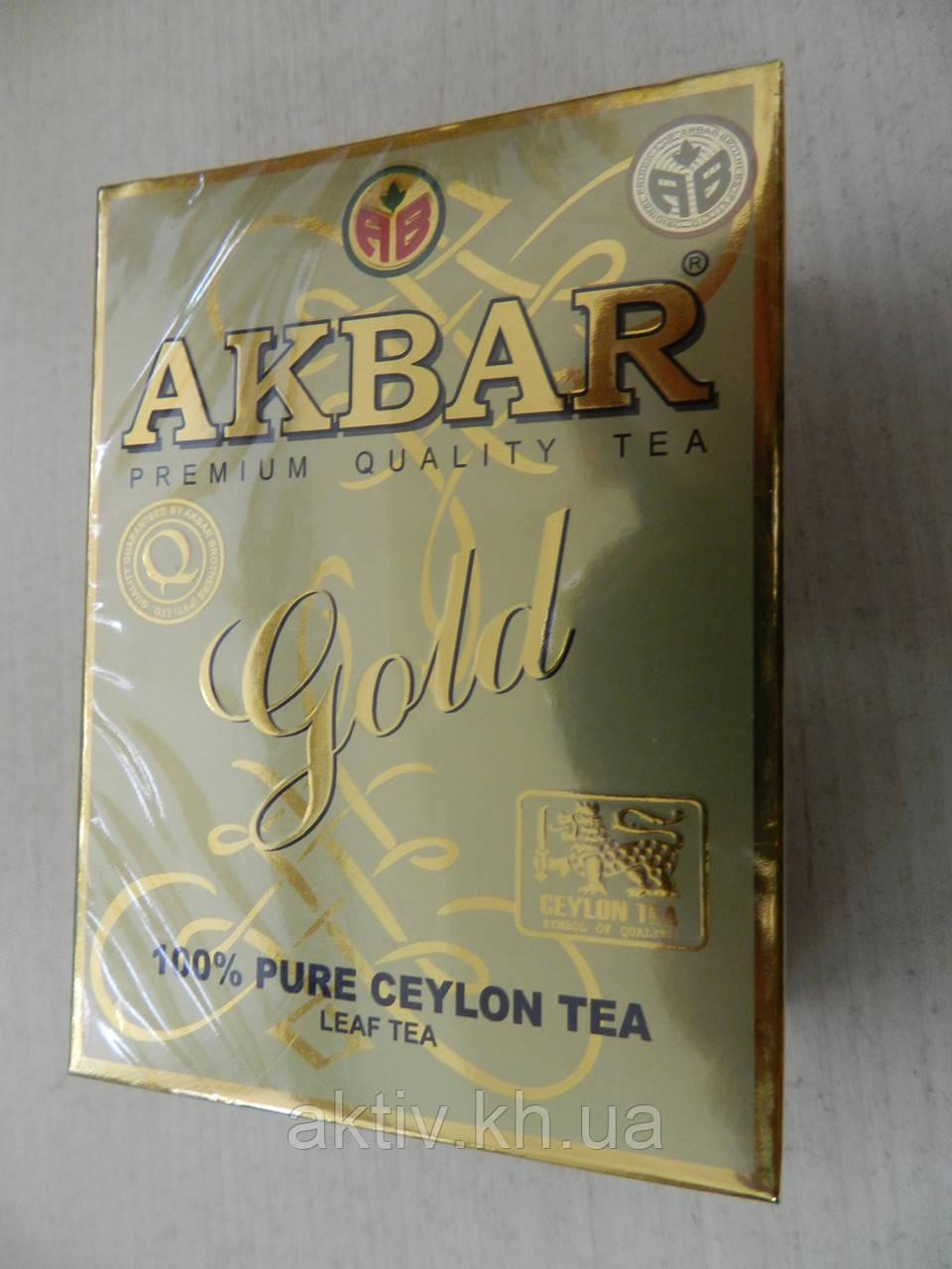 "Чай чорний Акбар Голд ,,Akbar gold""100 грам"