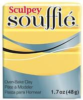 Новинка! Полимерная глина Sculpey Souffle Скалпи Суфле, желтый, Канары 6072