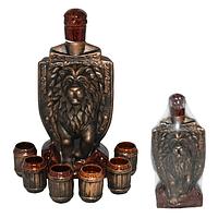 Набор винный Щит Лев(бутю-1,5л,стакан-100мл)