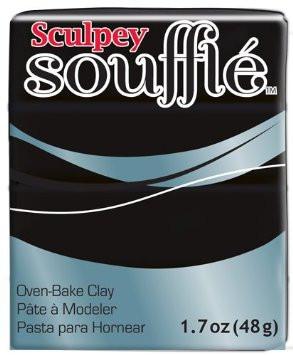 Новинка! Полимерная глина Sculpey Souffle Скалпи Суфле, черный, Маковое зернышко, 6042