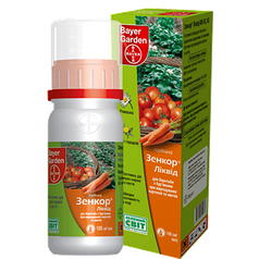 Системный гербицид Зенкор Ликвид (100 мл) — избирательный,на посевах картофеля, томатов. До- и после-всходовый