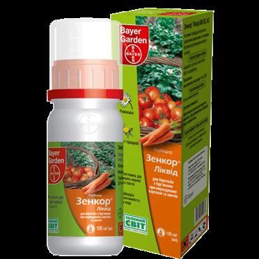 Системный гербицид Зенкор Ликвид (100 мл) — избирательный,на посевах картофеля, томатов. До- и после-всходовый, фото 2