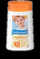 Солнцезащитный лосьон  SPF 50+ для чувствительной нежной  детской  кожи ,обогащен витаминами А и Алое , 200 ml