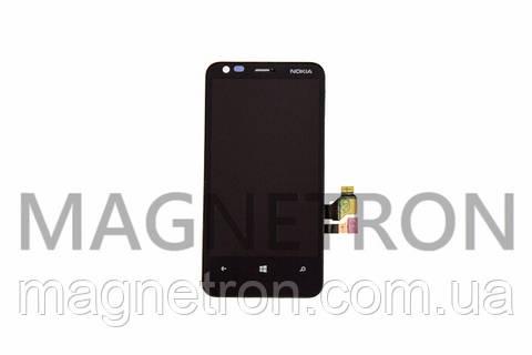 Дисплей с тачскрином и передним корпусом для мобильных телефонов Nokia Lumia 620