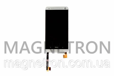 Дисплей с тачскрином и передним корпусом для мобильных телефонов HTC 801e One M7